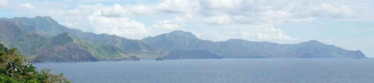View on Anawangin, Talisayan and Nagsasa Coves from Capones Island