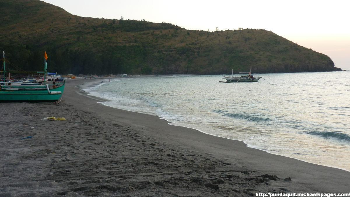 Pundaquit Beach with the cape visible