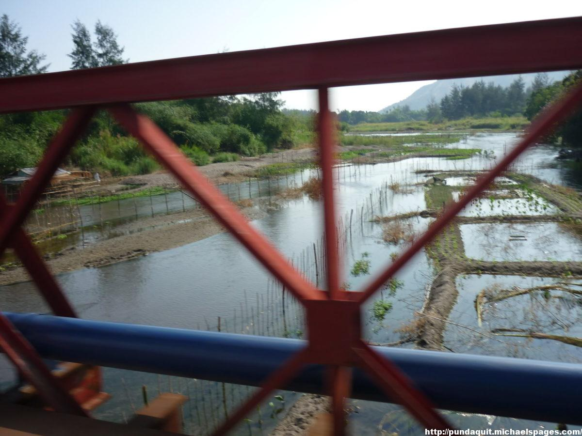 Pamatawan River visible from the bridge