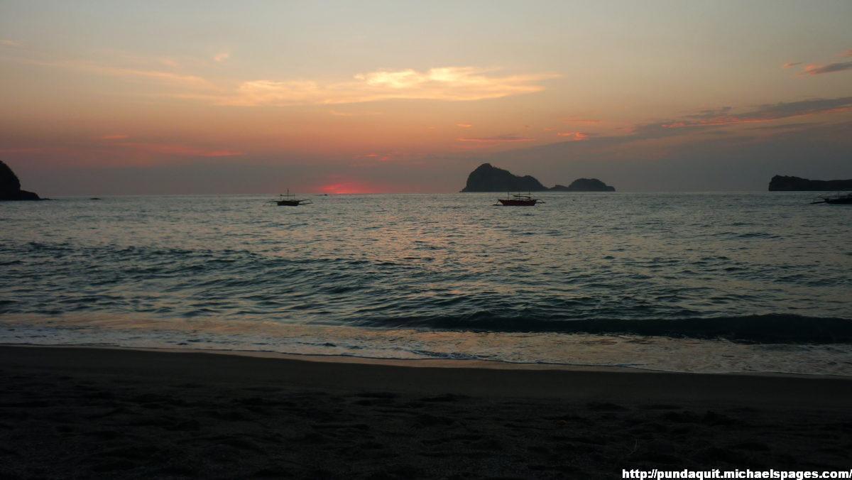 Capones and Camara Island during sunset