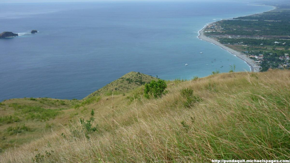 a view of Camara Island from the mountain