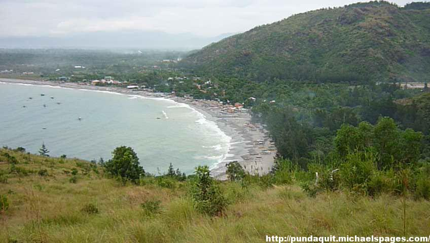a view of Pundaquit from a mountain